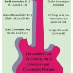 Conférences de prestige 2015